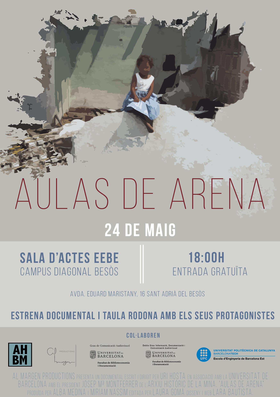 """Projecció del documental """"Aulas de Arena"""""""