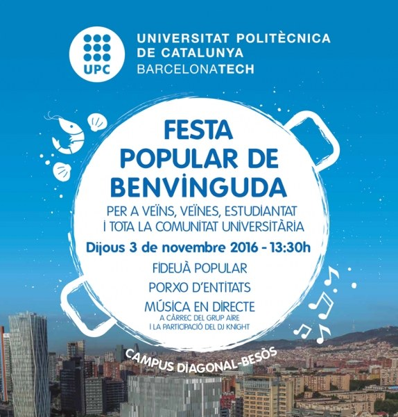 Popular Welcome Party at the Campus Diagonal-Besòs
